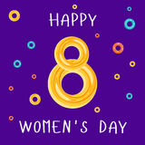 Applique to Women`s Day March 8. Stock Image