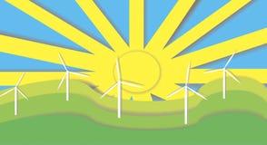 De macht van de wind applique Stock Foto's