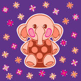Appliqued with cartoon elephant Royalty Free Stock Photo