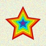 Appliquesterren van document in regenboogkleuren Royalty-vrije Stock Afbeelding