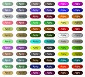 Appliquez le bouton pour le site Web ou l'application avec la couleur multi illustration libre de droits