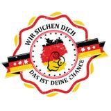 Appliquez maintenant, langue de Job Offers German illustration de vecteur