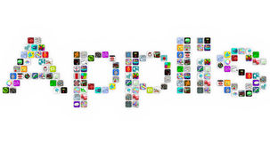 Applis - Application Icons Word in App Tiles Stock Images