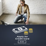 Apply for Credit Card Loan Payment Banking Concept Royalty Free Stock Image