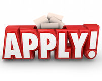 Apply 3d Word Submit Application Send in Your Documents Royalty Free Stock Images