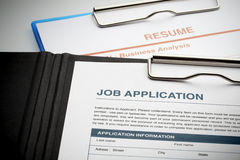 Free Apply For New Job By Application And Resume Document Stock Photography - 46539332