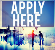 Apply Here Opportunity Hire Employment Concept Royalty Free Stock Images