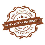 Apply for an internship. Learn from the best. Gain experience - grunge stamp / label stock images