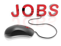 Apply for jobs online concept Stock Photography