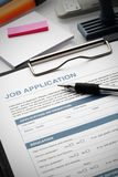 Apply for new job by Application Document Stock Images