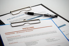 Apply for new job by Application and Resume Document Royalty Free Stock Images