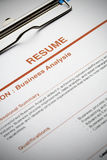 Apply for new job by Resume Document Stock Image
