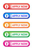 Apply now. Illustration of apply now web buttons Stock Photos