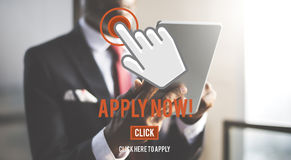 Apply Now Application Human Resources Employment Concept. Apply Now Application Human Resources Employment Royalty Free Stock Photography