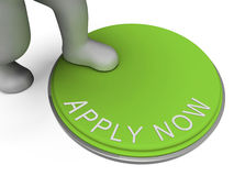Apply Now Button Shows Recruiting For Employment. Apply Now Button Showing Recruiting For Employment Royalty Free Stock Photography