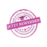 Apply Now, Job Offers German language Stock Image