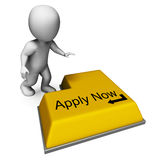 Apply Now Key Means Job Vacancy And Recruitment Stock Photo