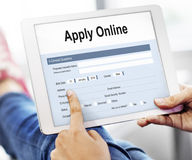 Apply Online Application College Form Concept Royalty Free Stock Photos