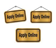Apply online - bronze signs Royalty Free Stock Image