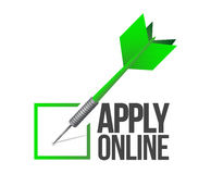 Apply online check mark dart illustration Stock Photos