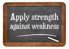 Apply strength against weakness Royalty Free Stock Photo