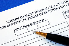 Apply unemployment insurance Royalty Free Stock Photography