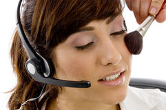 applying blusher care customer executive Στοκ Φωτογραφία