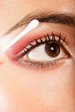 Applying Eye Makeup Eye Open Stock Images