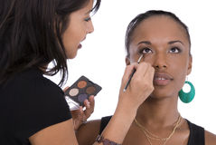 Applying eye-shadow. Stock Photo