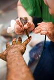 Applying Henna Stock Image