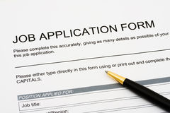 Applying for a job Royalty Free Stock Images