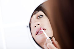 Applying Lipstick Royalty Free Stock Image