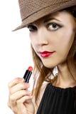 Applying Lipstick Stock Photography