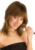 Applying make up Stock Image
