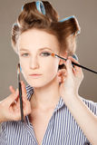 Applying make-up Stock Image