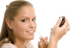 applying makeup Στοκ εικόνα με δικαίωμα ελεύθερης χρήσης