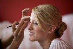 Applying Makeup Stock Images