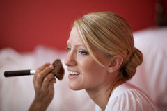 Applying Makeup Stock Photos