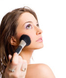 Applying makeup. Royalty Free Stock Photography