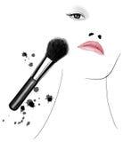 Applying makeup Royalty Free Stock Photos