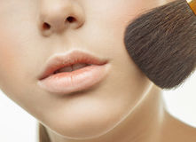 Applying makeup to the face Stock Images