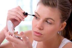 Applying mascara Royalty Free Stock Image