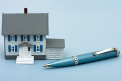 Applying for a Mortgage Royalty Free Stock Images