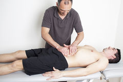 Applying myofascial therapy Stock Images