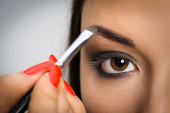 Applying perfect makeup Stock Image