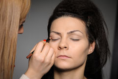 Applying perfect makeup Royalty Free Stock Photography