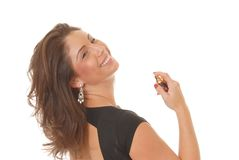 Applying Perfume Stock Images