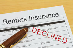 Applying for a Renters Insurance Declined Stock Photos