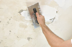 Applying Spackling Compound Stock Image