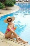Applying sunblock Royalty Free Stock Image